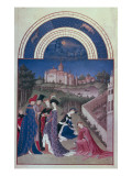 The Richly Decorated Hours of the Duke of Berry: International Gothic Prints by Jean Limbourg