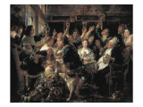 The Feast of the Bean King Giclee Print by Jacob Jordaens