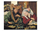 The Moneylender and His Wife Prints by Marinus Van Reymerswaele