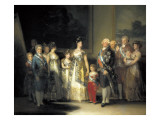 Charles IV and His Family Prints by Francisco de Goya