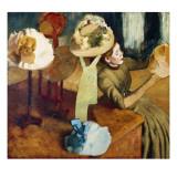 La tienda de sombreros Lámina por Edgar Degas