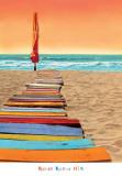Orange Beachwalk Kunstdruck von Robin Renee Hix