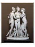 The Three Graces and Cupid Giclee Print by Bertel Thorvaldsen