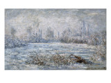 Frost Near Vetheuil (Le Givre) Giclee Print by Claude Monet
