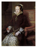 Queen Mary of England Giclée-Druck von Anthonis Mor Van Dashorst