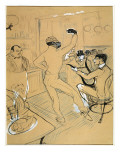 "Chocolat Dancing in the ""Irish and American Bar"" Lámina giclée por Henri de Toulouse-Lautrec"