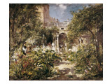 Garden of San Gervasio Giclee Print by Ramon Marti Alsina