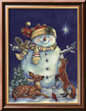 Jolly Snowman Art par Donna Race