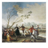 Dance on the Banks of the River Manzanares Giclee Print by Francisco de Goya