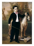 Portrait of a Boy with a Horse Prints by Antonio María Esquivel Y Suarez De Urbina