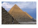 Pyramids of Menkaure, Khafre and Khufu Prints