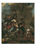 The Abduction of Rebecca Giclee Print by Eugene Delacroix
