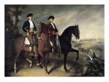 Two Horsemen Giclee Print by Jose Roldan