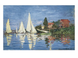 Regatta at Argenteuil Poster van Claude Monet