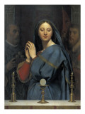 The Virgin with the Host Reproduction procédé giclée par Jean-Auguste-Dominique Ingres