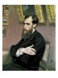 Portrait of Pavel Tretyakov Giclee Print by Ilya Efimovich Repin