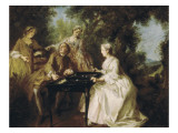 The Four Times of the Day: Afternoon Giclee Print by Nicolas Lancret