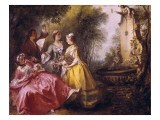 The Four Times of the Day: Midday Giclee Print by Nicolas Lancret