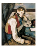 The Boy in the Red Waistcoat Poster by Paul Cézanne