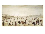 Scene on the Ice Giclee Print by Hendrik Avercamp