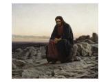 Christ in the Wilderness Posters af Ivan Nikolaevich Kramskoi