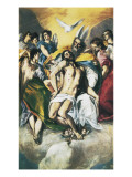 The Trinity Art by  El Greco