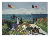 Garden at Sainte-Adresse Giclee Print by Claude Monet