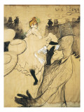 "La Goulue and Valentin Le Desosse at the ""Moulin Rouge"" Reproduction procédé giclée par Henri de Toulouse-Lautrec"