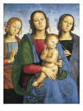 Madonna and Child with St Prints by Pietro Perugino