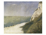Beach at Bas Butin, Honfleur Posters by Georges Seurat