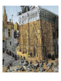 Fol. 163: the Building of the Temple of Jerusalem Giclee Print by Jean Fouquet