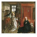 The Annunciation (panel) Poster von Rogier van der Weyden