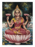 Goddess Srhi Sentamarai Laximi, Wife of Vishnu Posters