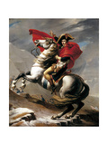 Bonaparte franchissant le Grand-Saint-Bernard Poster par Jacques-Louis David