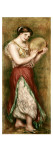 Dancing Girl with Tambourine Print by Pierre-Auguste Renoir