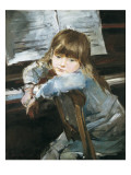 Girl before the Piano Giclee Print by Francesc Torrescassana