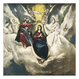 The Coronation of the Virgin Giclee Print by  El Greco
