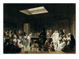 A Game of Billiards Prints by Louis Leopold Boilly