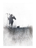 Death rides a horse Giclee Print by Alex Cherry