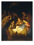 Adoration of the Shepherds (Adoration of the Shepherds) Posters af Gerrit van Honthorst