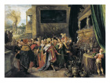 Croesus Shows His Treasures to Solon Giclee Print by Frans Francken the Younger