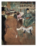 Quadrille at the Moulin Rouge Giclee Print by Henri de Toulouse-Lautrec