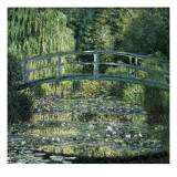 The Waterlily Pond: Green Harmony Affischer av Claude Monet
