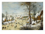 Winter Landscape Poster af Pieter Brueghel the Younger