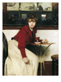At the Moulin De La Galette or La Madeleine Prints by Ramon Casas Carbo