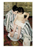 The Child's Bath Prints by Mary Cassatt