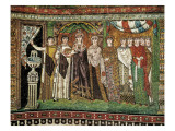 Empress Theodora with Her Court Posters
