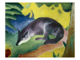 Blue Fox Giclee Print by Franz Marc
