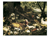 Animals Entering the Ark Giclee Print by Jacopo Bassano