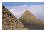 Pyramids of Menkaure, Khafre and Khufu Posters